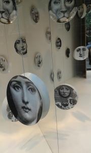 """Variations of a face"" at Selfridges, London"